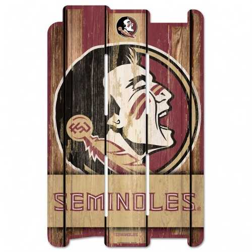 Florida State Seminoles Sign 11x17 Wood Fence Style