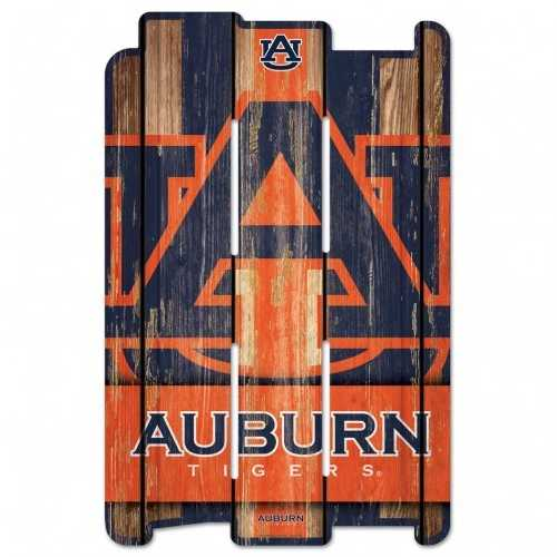 Auburn Tigers Sign 11x17 Wood Fence Style - Special Order