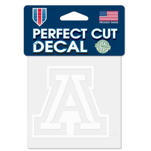 Arizona Wildcats Decal 4x4 Perfect Cut White Special Order
