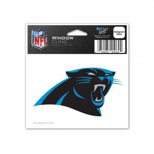Carolina Panthers Decal 3x3 Static Cling Style