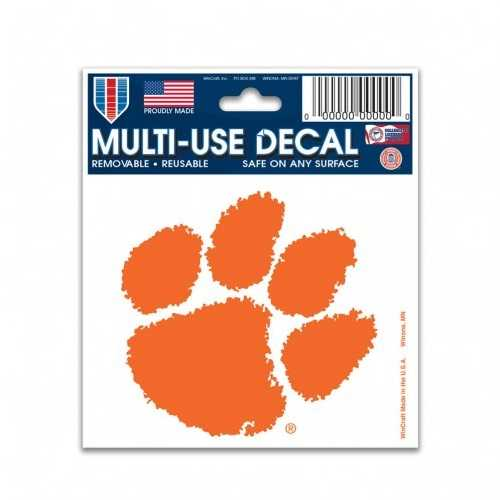 Clemson Tigers Decal 3x4 Multi Use Color Special Order