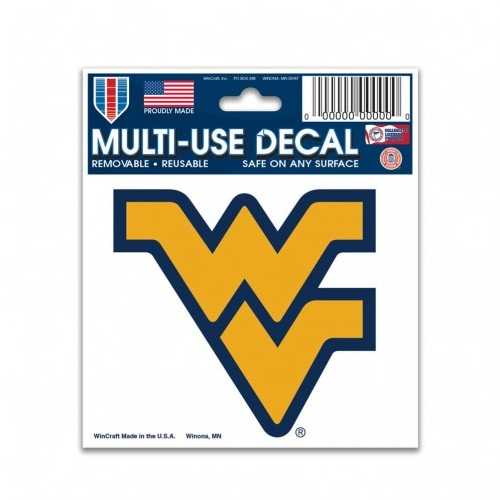 West Virginia Mountaineers Decal 3x4 Multi Use Color Special Order