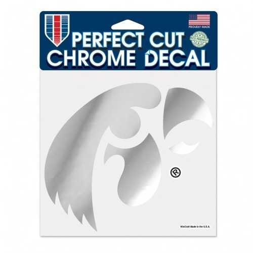 Iowa Hawkeyes Decal 6x6 Perfect Cut Chrome