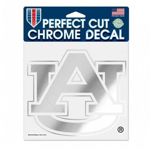 Auburn Tigers Decal 6x6 Perfect Cut Chrome