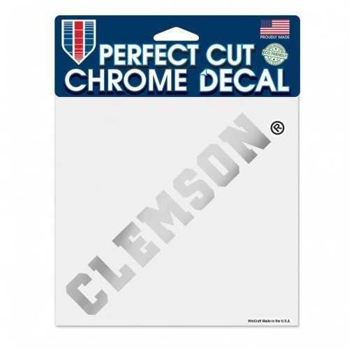 Clemson Tigers Decal 6x6 Perfect Cut Chrome