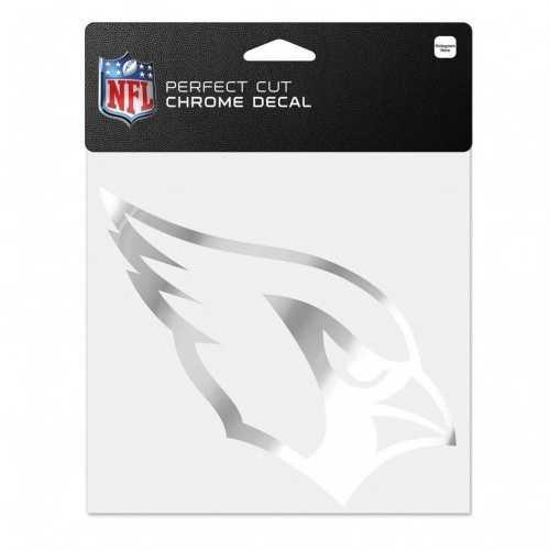 Arizona Cardinals Decal 6x6 Perfect Cut Chrome