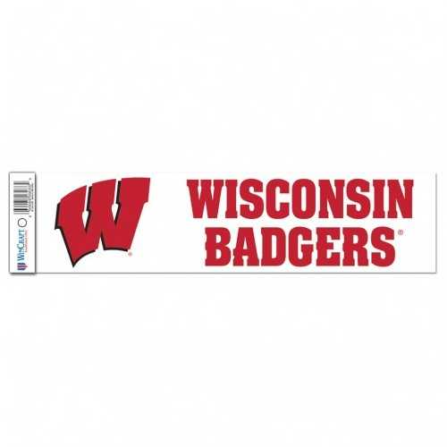 Wisconsin Badgers Decal 3x12 Bumper Strip Style Special Order