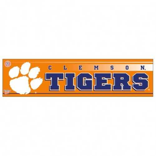 Clemson Tigers Decal 3x12 Bumper Strip Style
