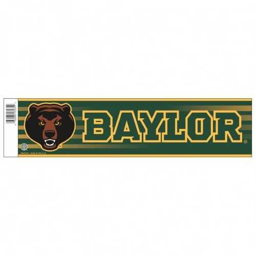 Baylor Bears Decal 3x12 Bumper Strip Style Special Order