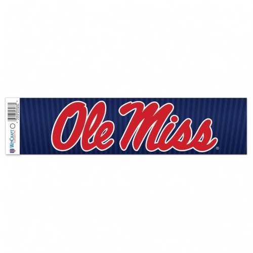 Mississippi Rebels Decal 3x12 Bumper Strip Style Special Order
