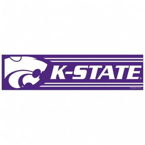 Kansas State Wildcats Decal 3x12 Bumper Strip Style Special Order