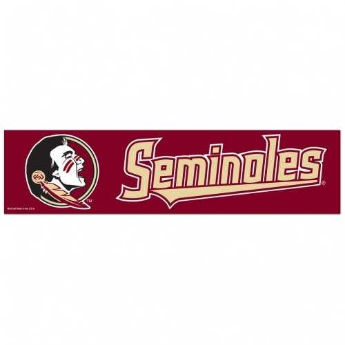 Florida State Seminoles Decal 3x12 Bumper Strip Style Special Order