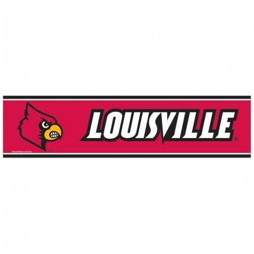 Louisville Cardinals Decal 3x12 Bumper Strip Style Special Order