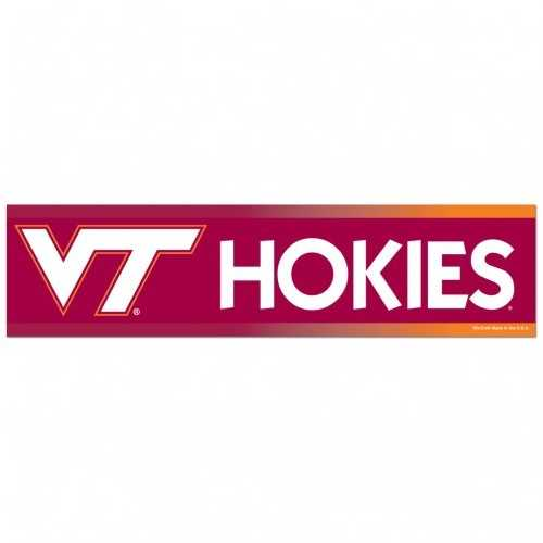 Virginia Tech Hokies Decal 3x12 Bumper Strip Style Special Order