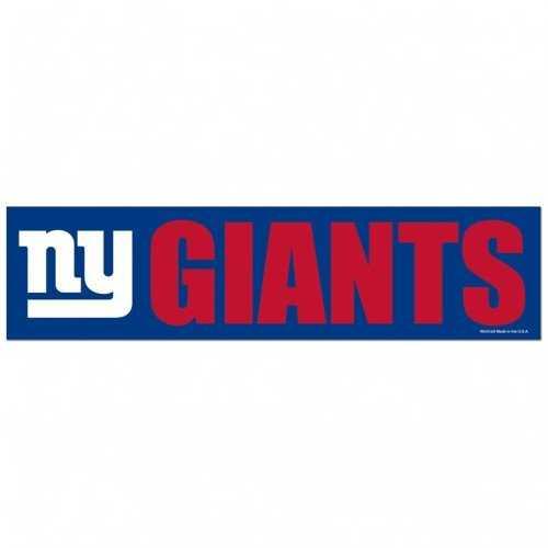 New York Giants Decal 3x12 Bumper Strip Style