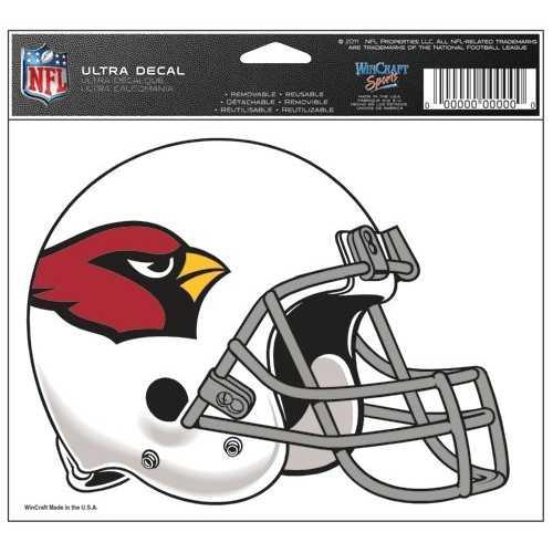 Arizona Cardinals Decal 5x6 Ultra Color Special Order