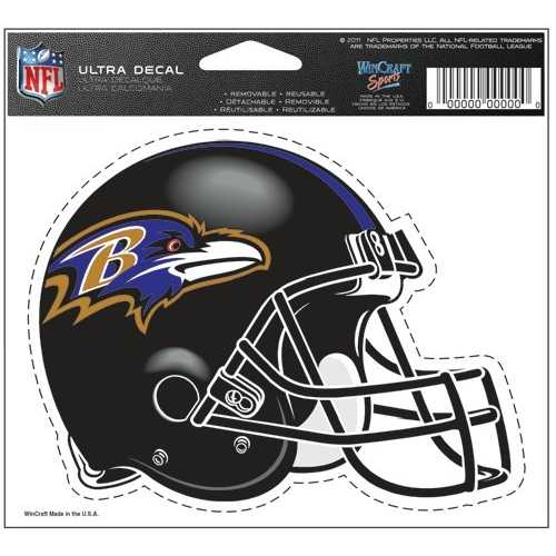 Baltimore Ravens Decal 5x6 Ultra Color Special Order