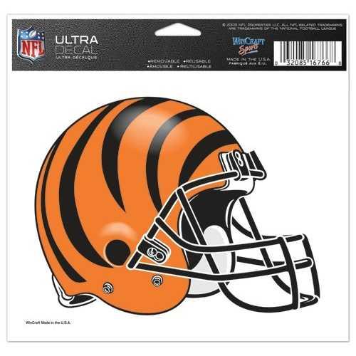 Cincinnati Bengals Decal 5x6 Ultra Color