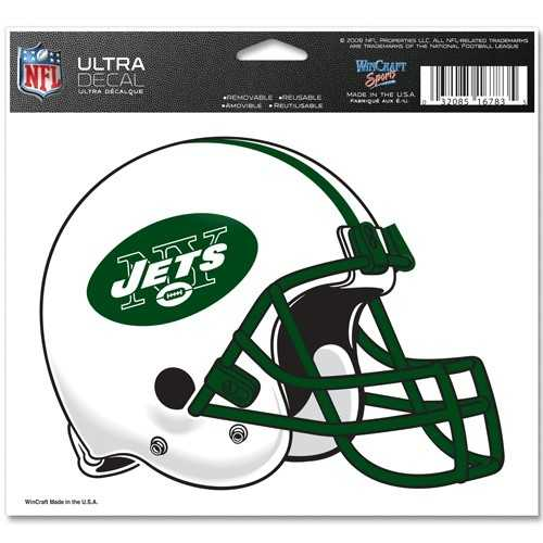 New York Jets Decal 5x6 Ultra Color Special Order