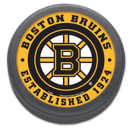 Boston Bruins Hockey Puck Packaged Est 1924 Design