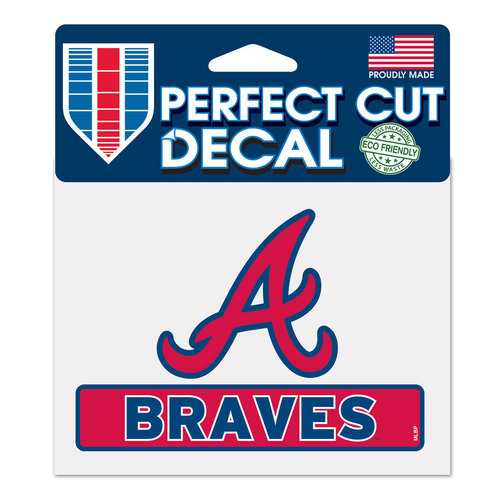 Atlanta Braves Decal 4.5x5.75 Perfect Cut Color Special Order