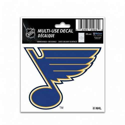St. Louis Blues Decal 3x4 Multi Use Color Special Order