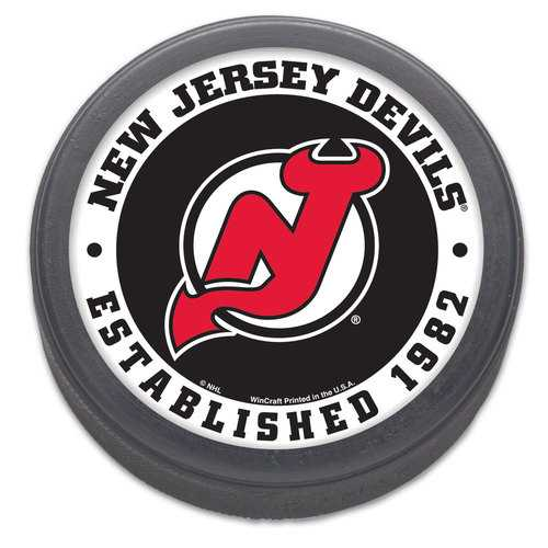 New Jersey Devils Hockey Puck Packaged Est 1982 Design