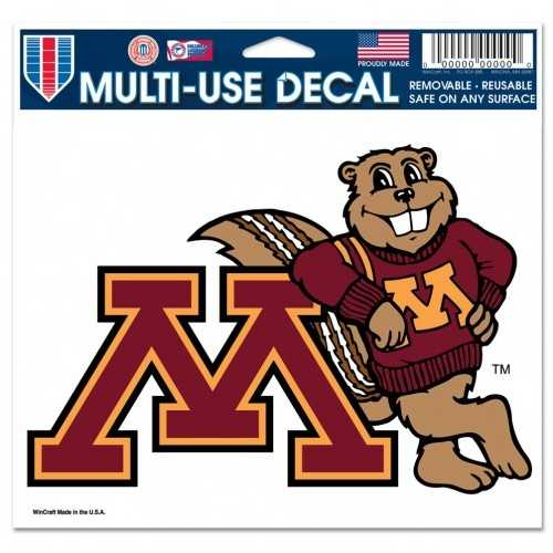 Minnesota Golden Gophers Decal 5x6 Multi Use Color Special Order