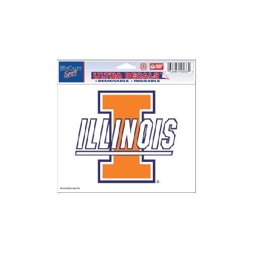 Illinois Fighting Illini Decal 5x6 Multi Use Color Special Order