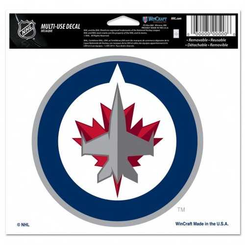 Winnipeg Jets Decal 5x6 Multi Use Color Special Order