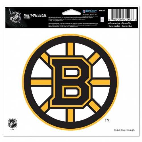 Boston Bruins Decal 5x6 Ultra Color Special Order
