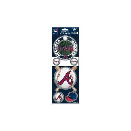 Atlanta Braves Stickers Prismatic Special Order