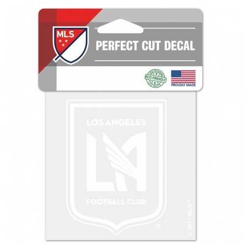 Los Angeles FC Decal 4x4 Perfect Cut White Special Order
