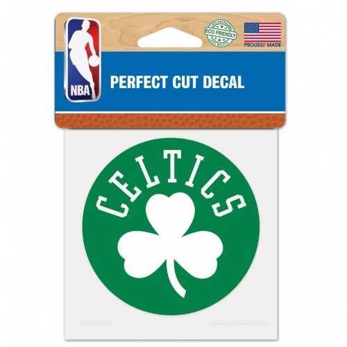 Boston Celtics Decal 4x4 Perfect Cut Color