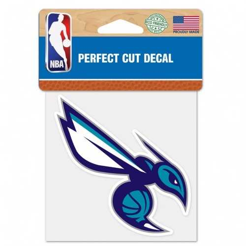 Charlotte Hornets Decal 4x4 Perfect Cut Color Special Order