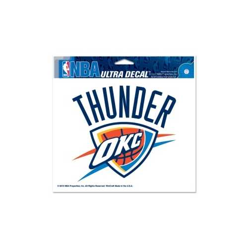 Oklahoma City Thunder Decal 5x6 Ultra