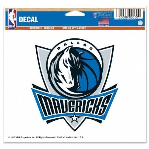 Dallas Mavericks Decal 5x6 Color