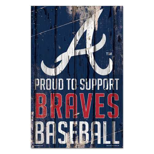 Atlanta Braves Sign 11x17 Wood Proud to Support Design