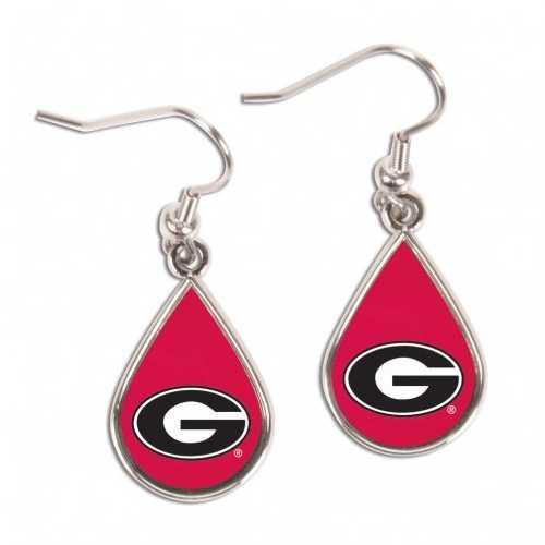 Georgia Bulldogs Earrings Tear Drop Style Special Order