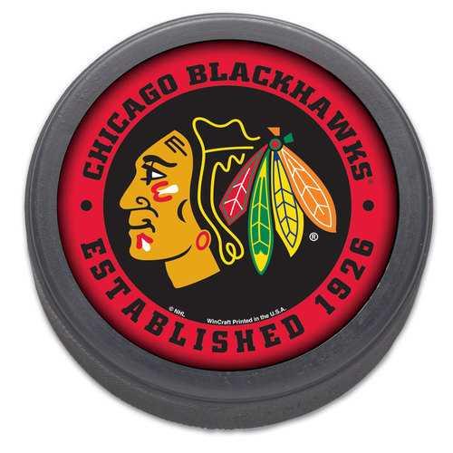 Chicago Blackhawks Hockey Puck Packaged Est 1926 Design