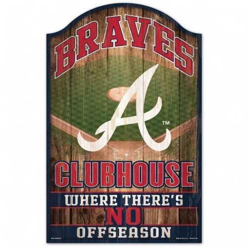 Atlanta Braves Sign 11x17 Wood Fan Cave Design