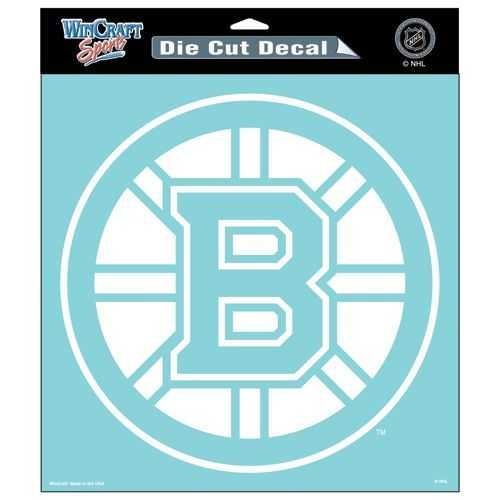 Boston Bruins Decal 8x8 Perfect Cut White Special Order