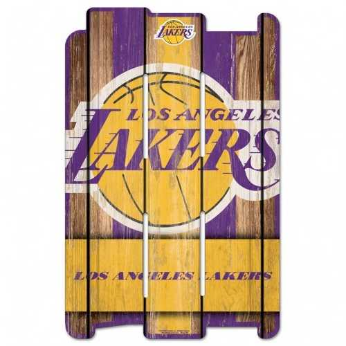 Los Angeles Lakers Sign 11x17 Wood Fence Style
