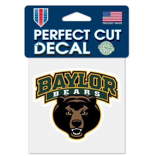 Baylor Bears Decal 4x4 Perfect Cut Color Special Order