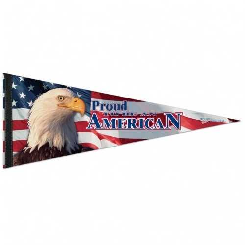 """American Flag Pennant - 12""""x30"""" - Proud To Be American Special Order"""