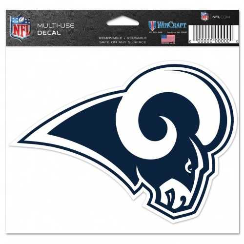 Los Angeles Rams Decal 5x6 Multi Use Color Special Order