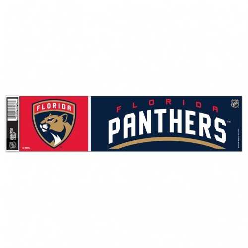 Florida Panthers Decal 3x12 Bumper Strip Style Special Order