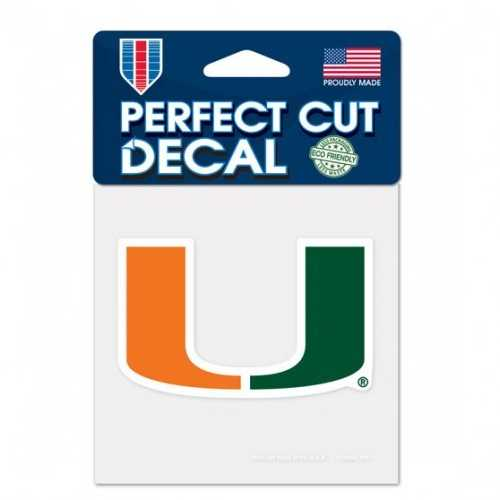 Miami Hurricanes Decal 4x4 Perfect Cut Color Special Order
