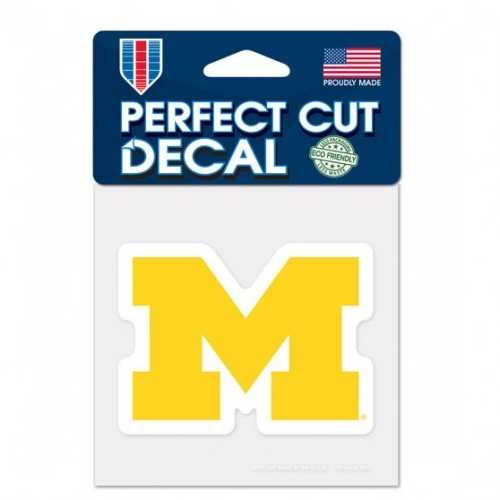 Michigan Wolverines Decal 4x4 Perfect Cut Color Special Order