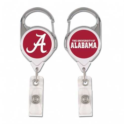 Alabama Crimson Tide Badge Holder Premium Retractable